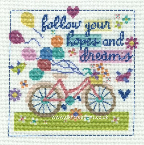 Follow Your Hopes And Dreams Cross Stitch Kit
